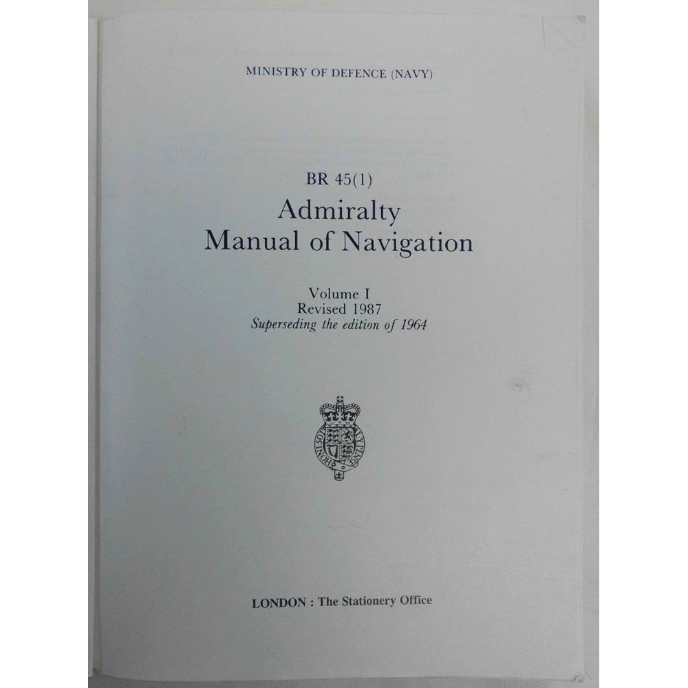 Rollover to zoom. Admiralty Manual of Navigation, Volume I: General  Navigation ...