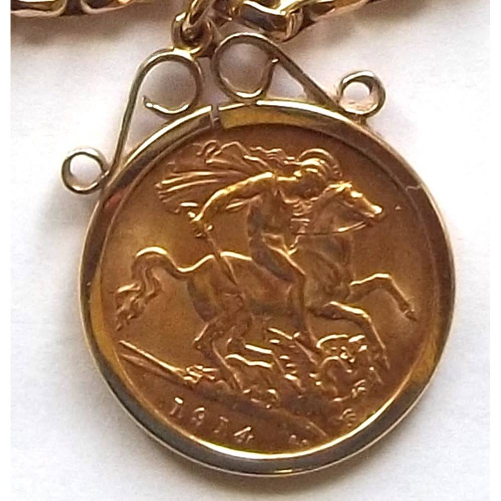 Half gold sovereign pendant with belcher chain coin 1914 price half gold sovereign pendant with belcher chain coin 1914 price reduced loading zoom aloadofball Images