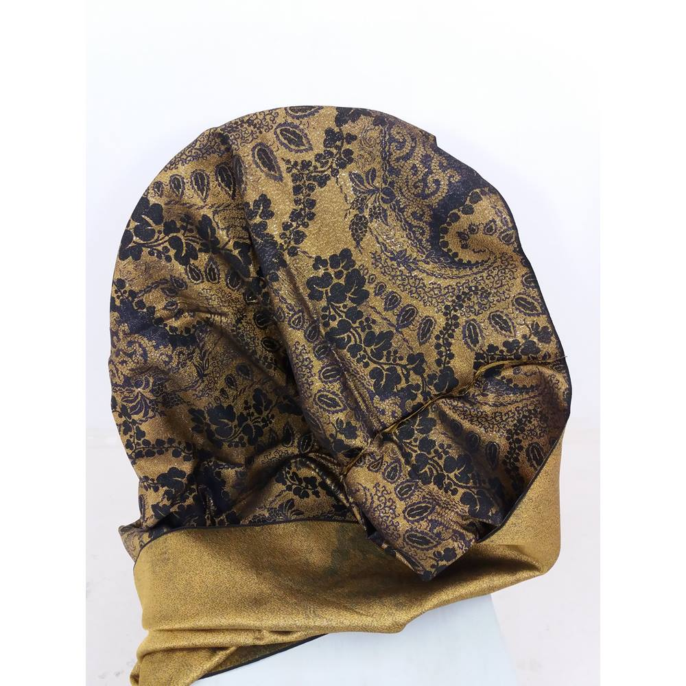 Gorgeous Black & Metallic Gold Floral Fabric | Oxfam GB ...