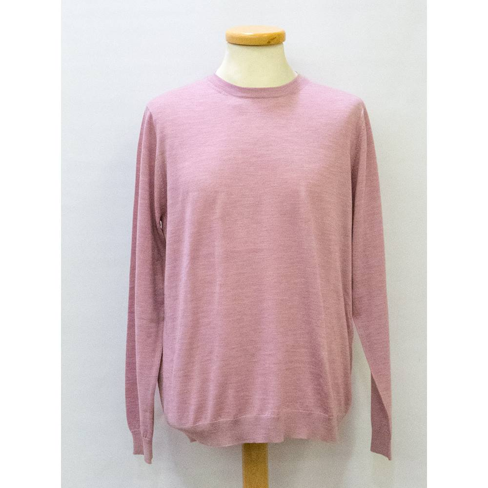 3cb459cd2e6 Men's MS Collection Pure Merino Jumper M&S Marks & Spencer - Size: L - Pink  - Long sleeved jumper | Oxfam GB | Oxfam's Online Shop
