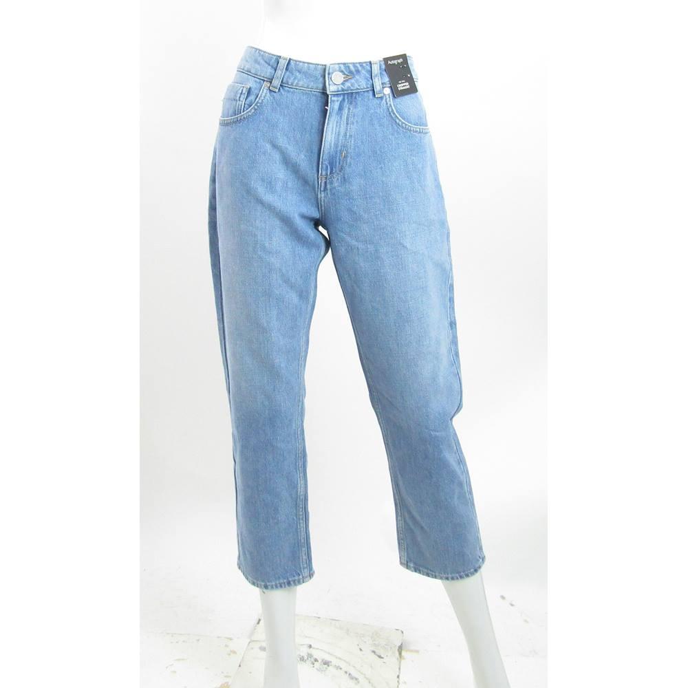 BNWT - M&S Marks & Spencer - Size: 10 - Blue Denim - Cropped ...