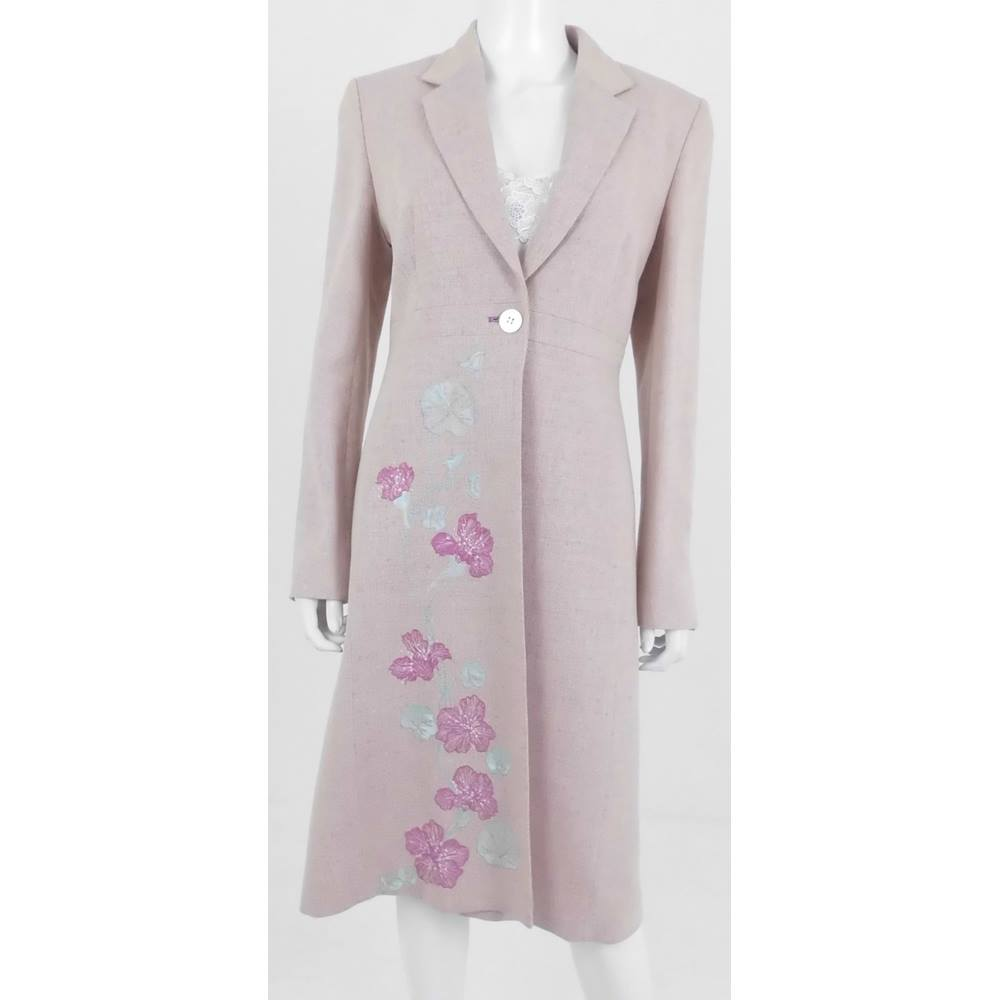 Press   Bastyan Size 12 Light Purple Silk and Linen Coat. Loading zoom ccf1a83c21