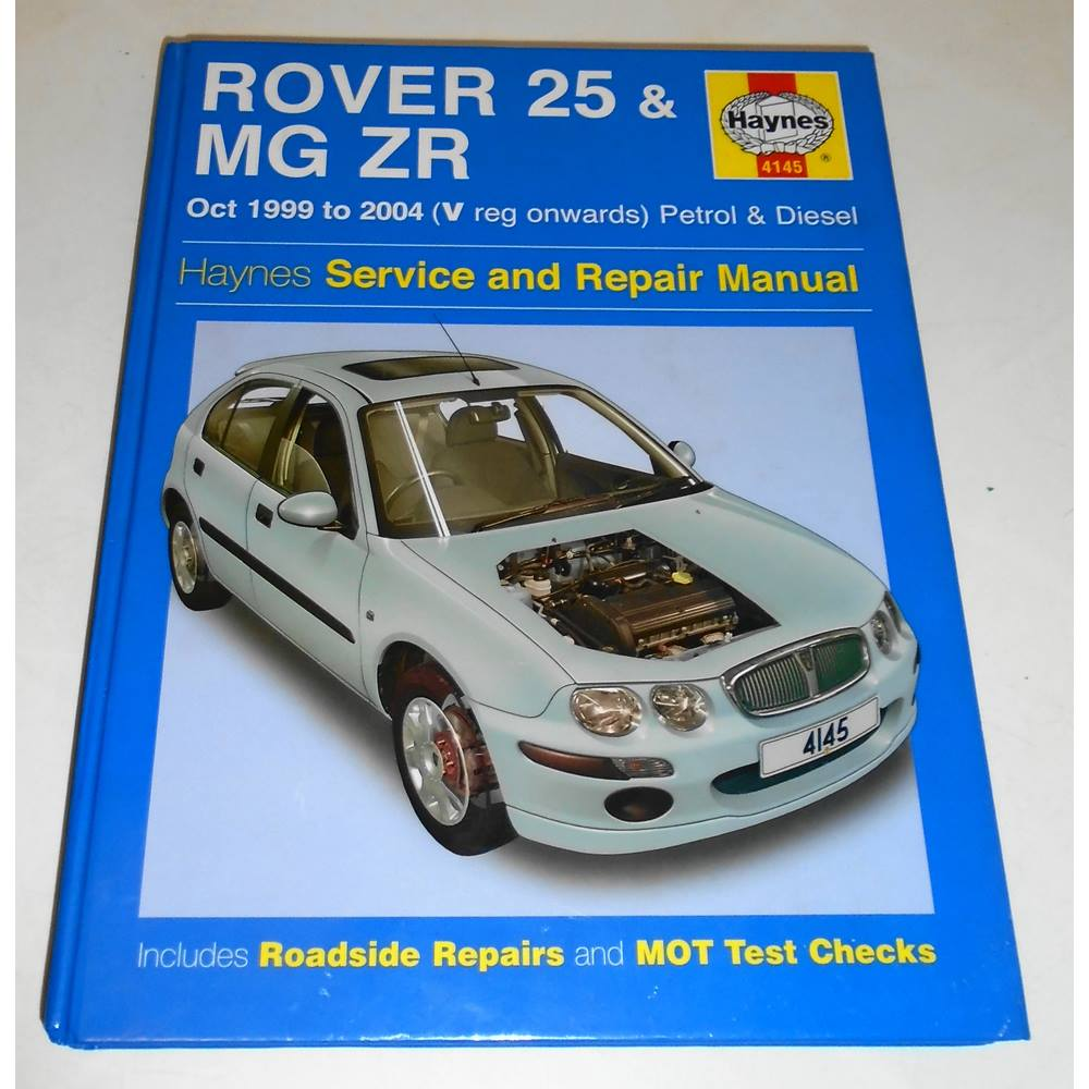rover 25 mg zr oct 1999 to 2004 service repair manual rh preloved co uk Rover 400 rover 25 haynes manual pdf download