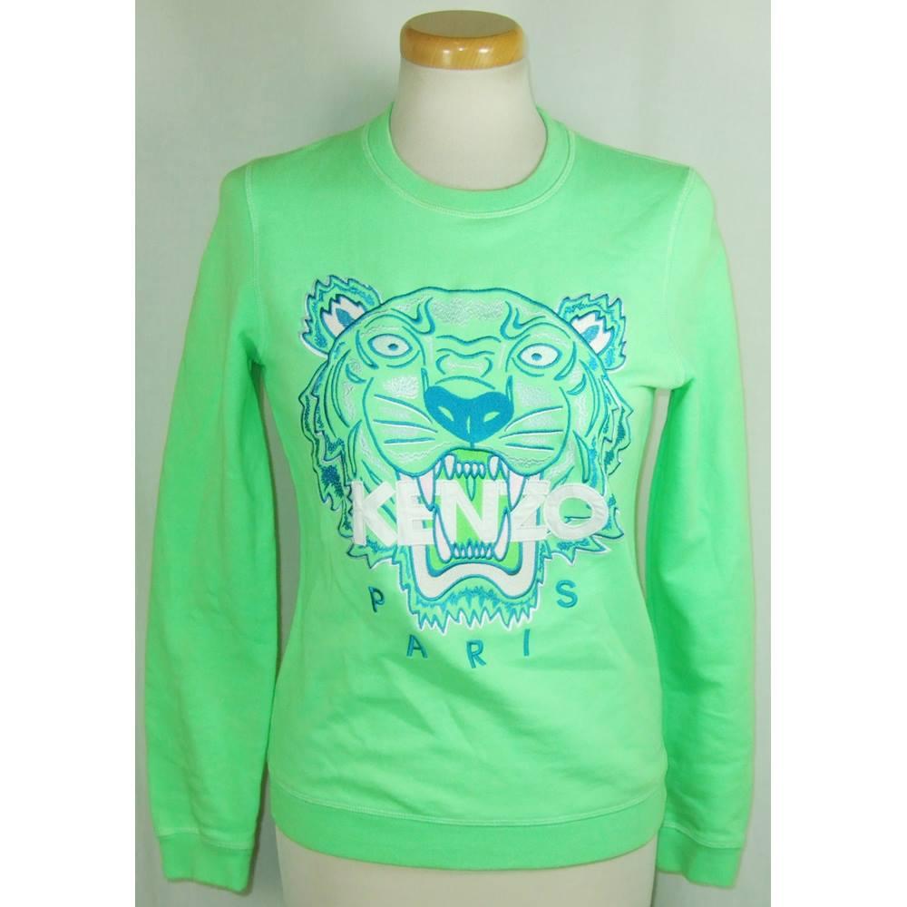 ac23cc0b Kenzo Jungle Paris size small lime green sweatshirt | Oxfam GB ...