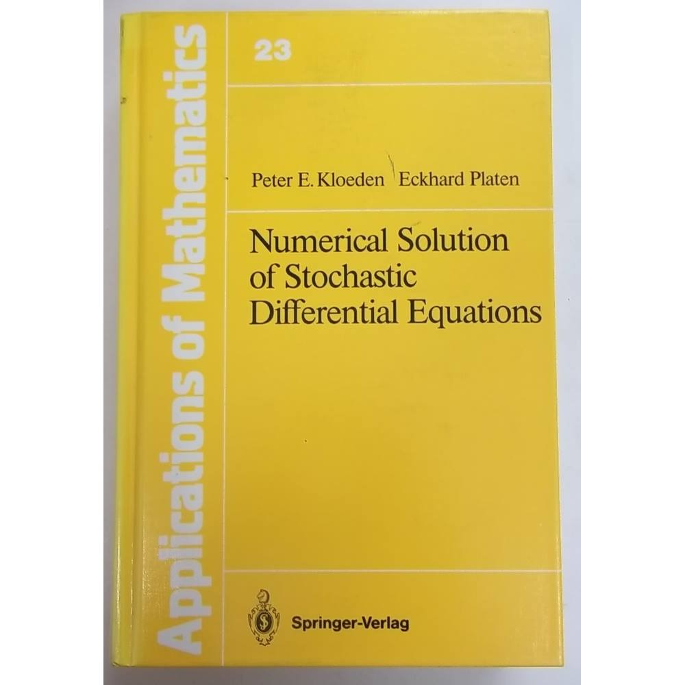Numerical solution of stochastic differential equations | Oxfam GB |  Oxfam's Online Shop