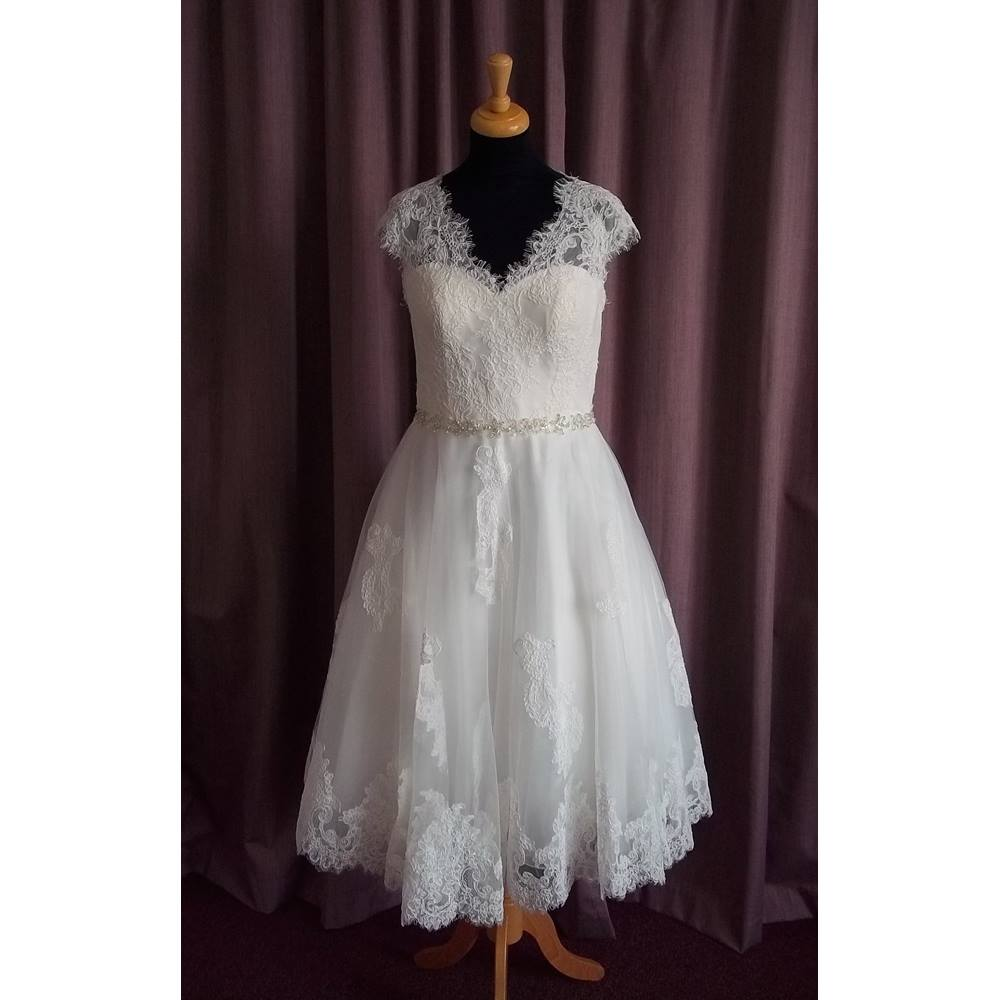 Rita Mae Ivory Sleeveless Wedding Dress Size 14 Oxfam Gb