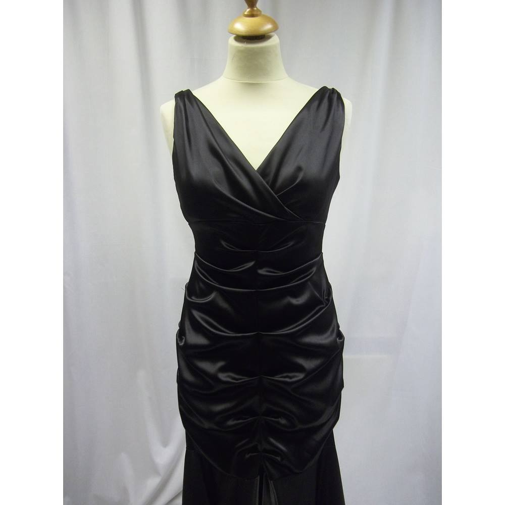 Xscape by Joanna Chen - Size: 10 - Black - Evening dress | Oxfam GB ...