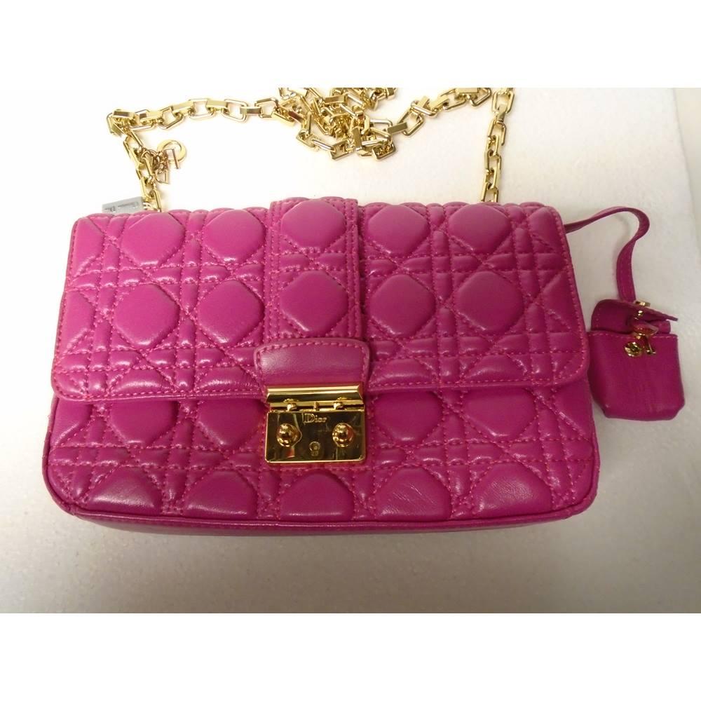 Christian Dior Handbag Dior - Size  M - Pink - Shoulder bag   Oxfam ... 1065dc0f1e8