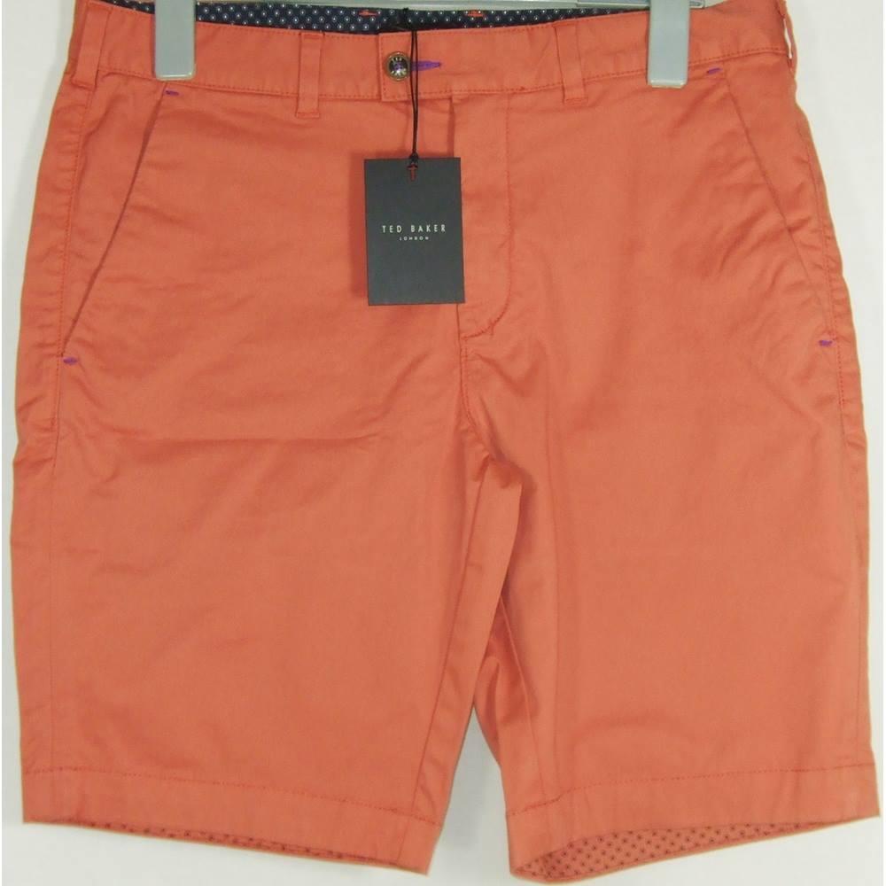 ccc4c27991c4 BNWT Ted Baker size 34R orange chino shorts