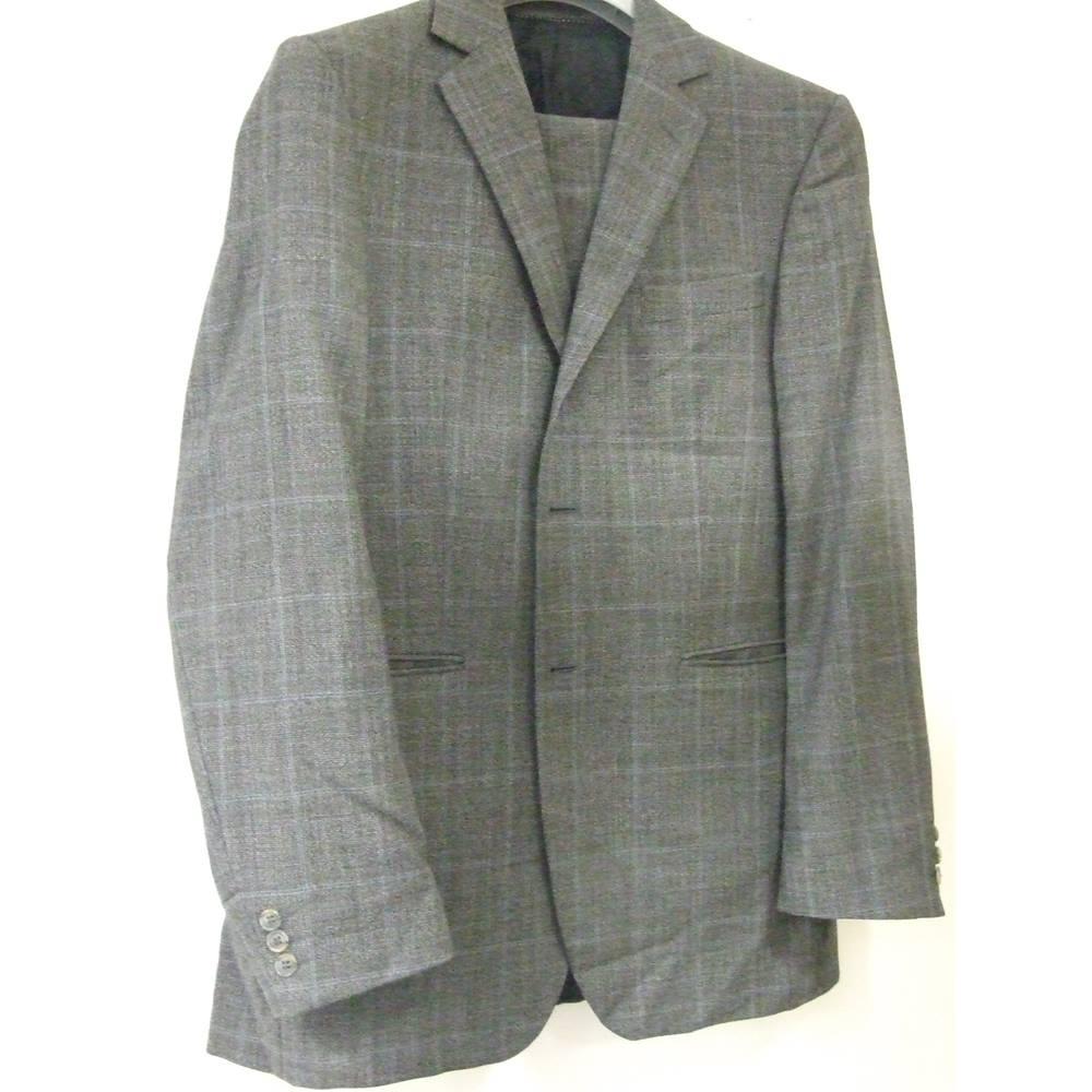 e540580c Classic 100% Wool Tiger of Sweden suit light plaid
