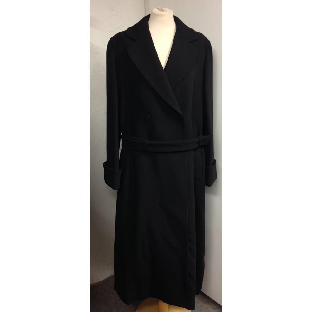 7c63de00 Giorgio Armani Women's Double-breasted Overcoat Giorgio Armani - Size: 12 -  Black - Smart jacket / coat REDUCED!! | Oxfam GB | Oxfam's Online Shop