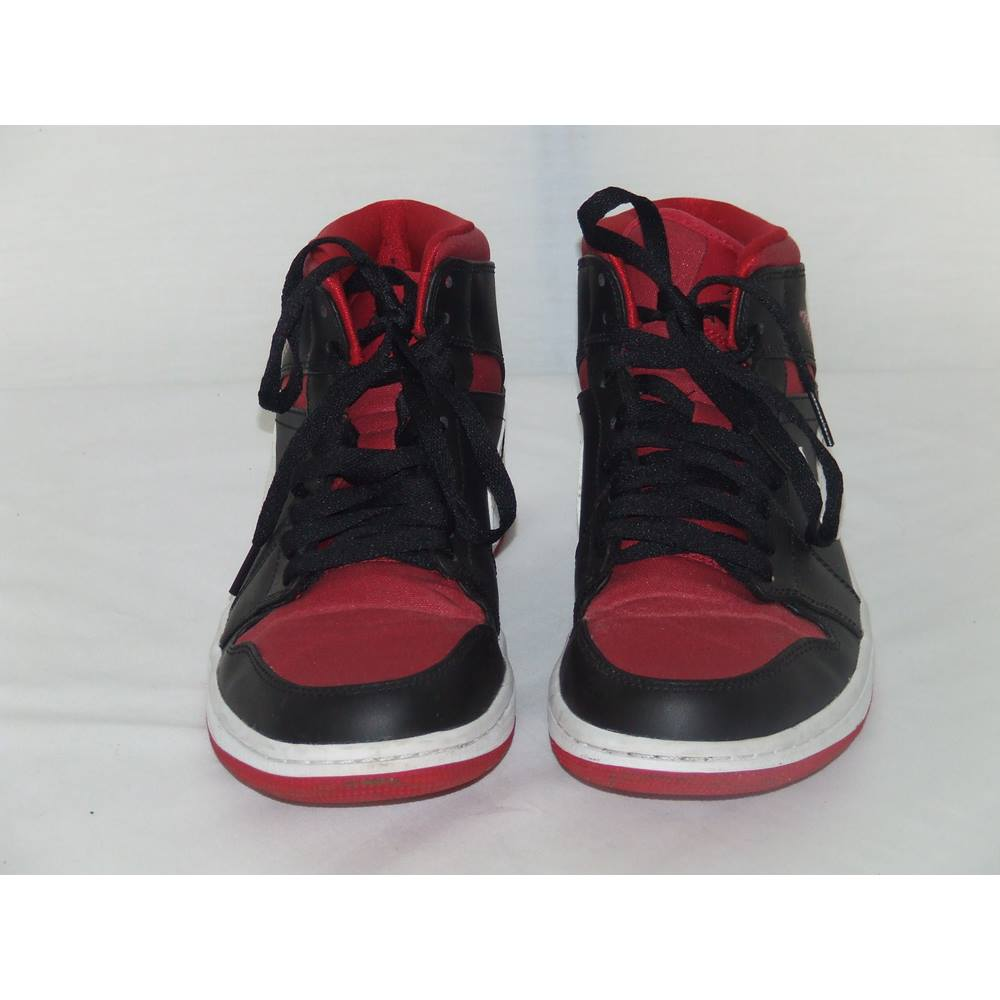 cba87975cca Nike, size 8 black & red Air Jordan 1 Mid 'Bred' trainers | Oxfam GB ...