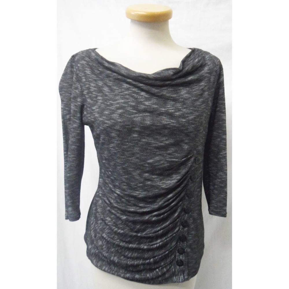 Principles by BEN de LISI - Size  14 petite - Grey - Long sleeved shirt ... b15402b5f