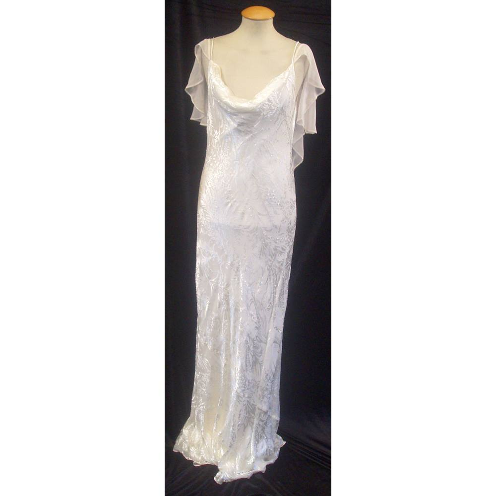 BNWT Monsoon Size 12 Ivory 1930\'s style bias cut beaded and ...