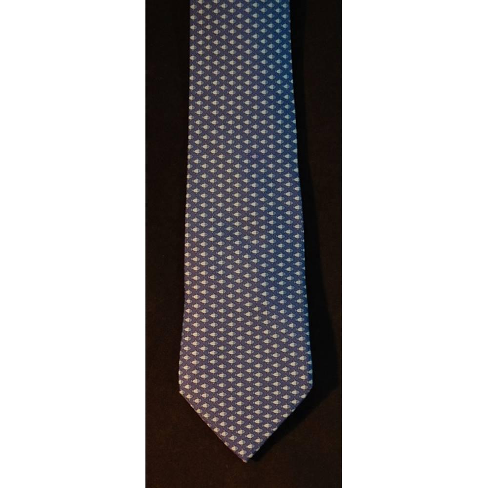 f7f885437b1a Hermes 100% Silk Tie Blue Fish Pattern 7862 UA | Oxfam GB ...