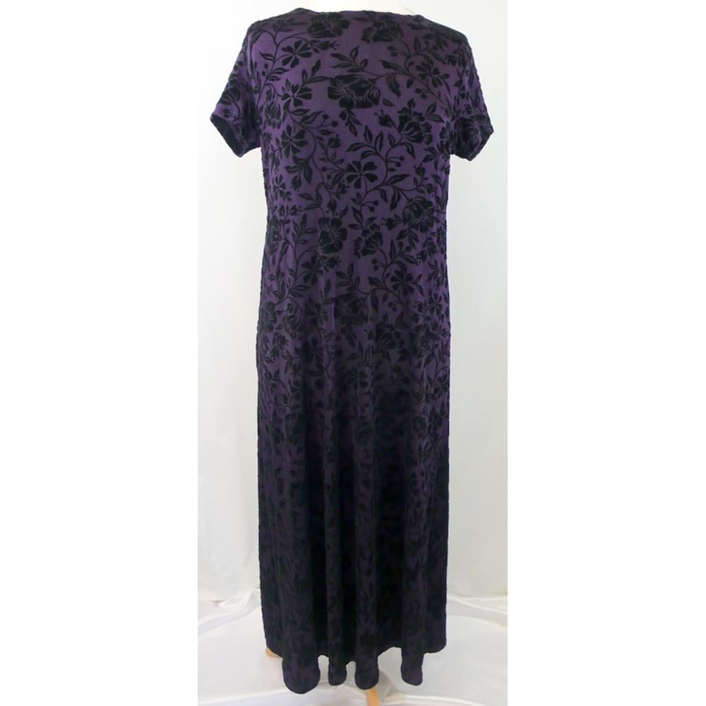 261147104f5 Blooming Marvellous - Size  12 - Purple - Long Maternity Dress ...