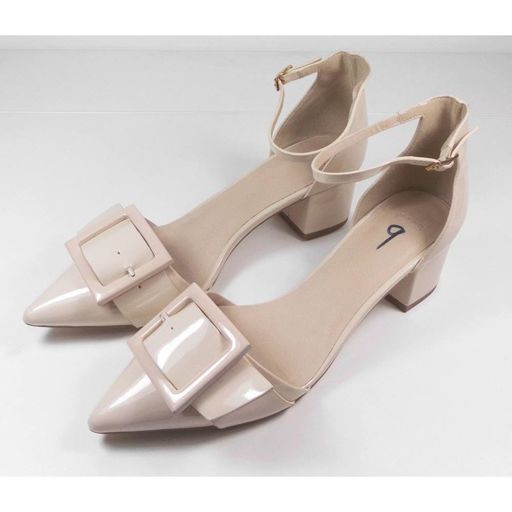 c94435432fc NEW ASOS Nude Block Heeled Sandals Size 7. Loading zoom