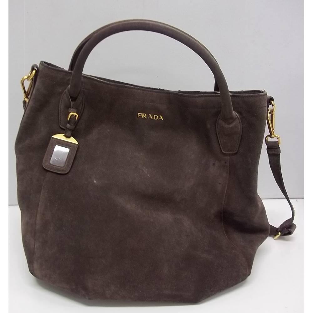 ddaa7156a382 Prada - Suede - Brown - Shoulder bag