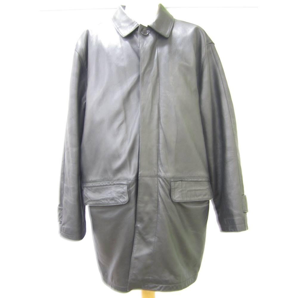 7db11406c Men's Ciro Citterio Black Leather Jacket Ciro Citterio - Size: Medium -  Black - Leather. Loading zoom