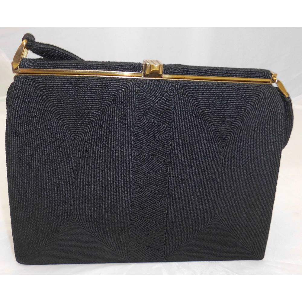 Corde Handbag Evening Bag Black 1940 S Loading Zoom