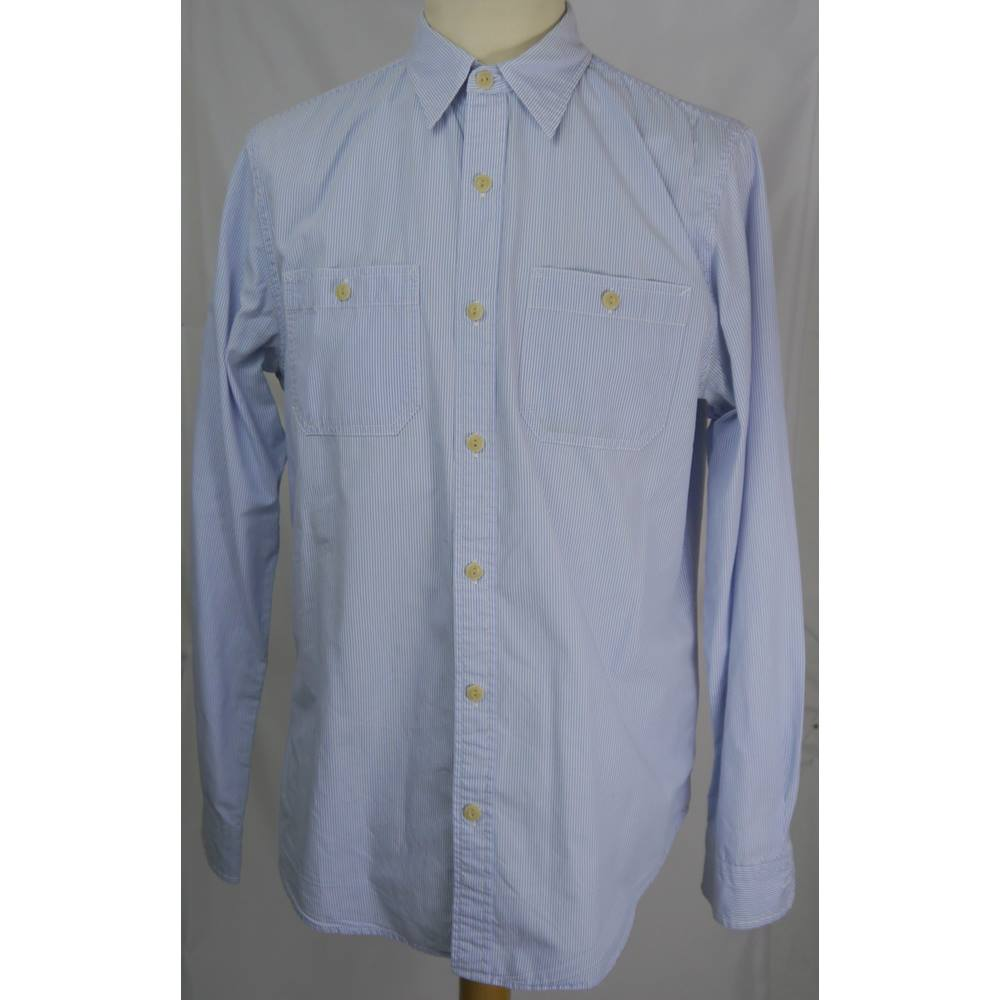 406a1ac3cb8be Blue And White Pinstripe Shirt – EDGE Engineering and Consulting Limited