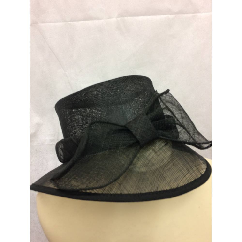 Marks And Spencer Wedding Hat Black M S Size One Loading Zoom
