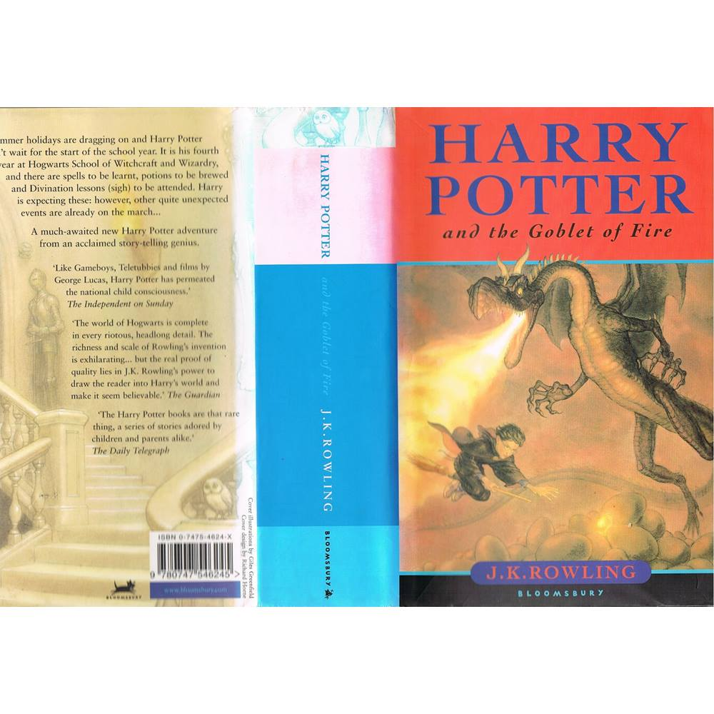Harry Potter School Book Cover ~ Harry potter and the goblet of fire first edition omnia press