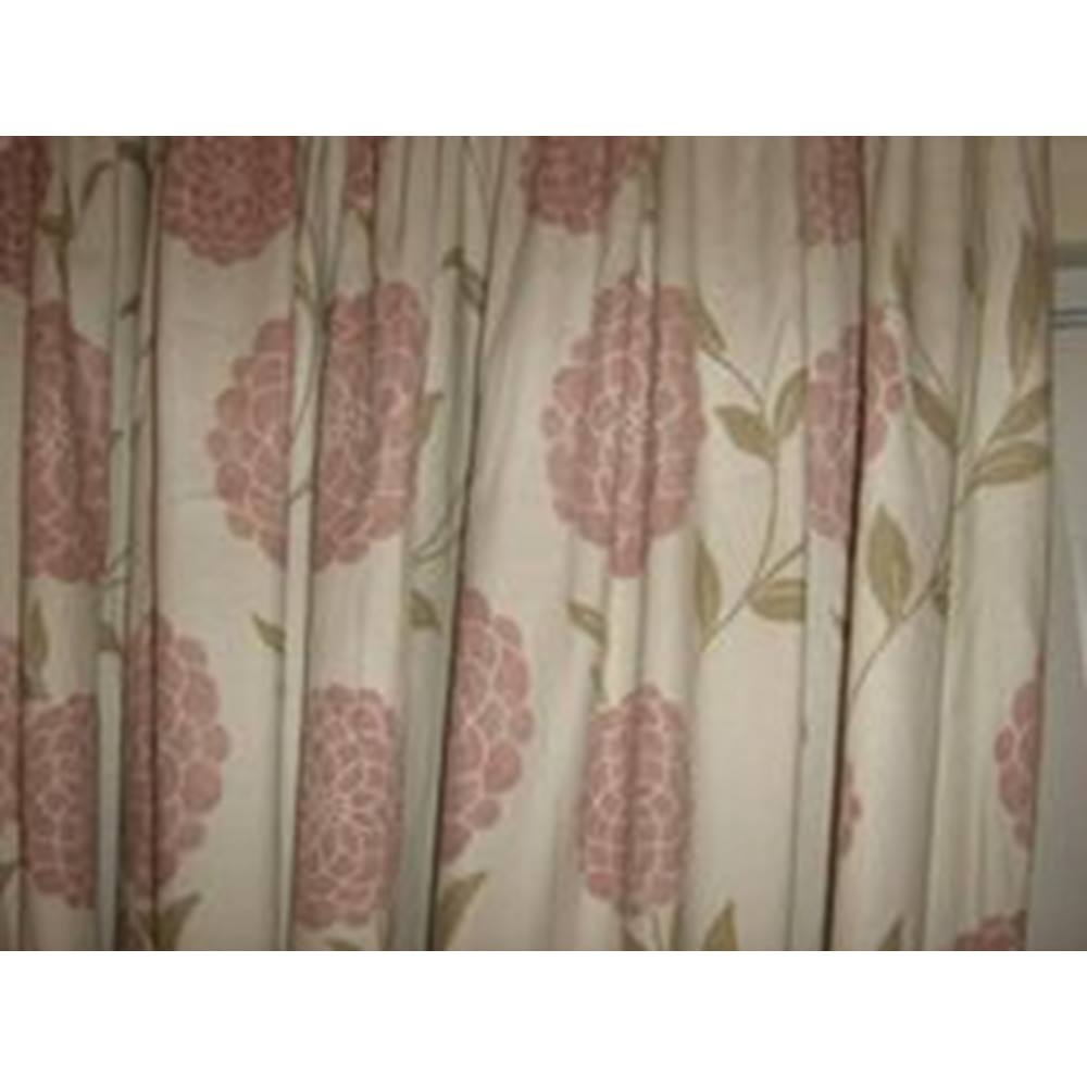 Laura Ashley - Erin Chalk Pink - Cotton/Linen Curtains Laura Ashley ...