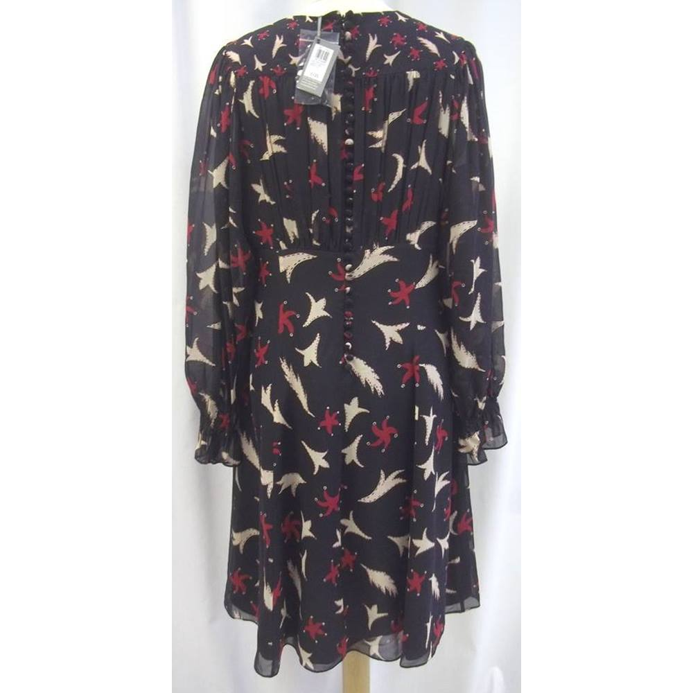 BNWT - Celia Birtwell for John Lewis - Size  14 - Black with Red and ... ffc2c18b3