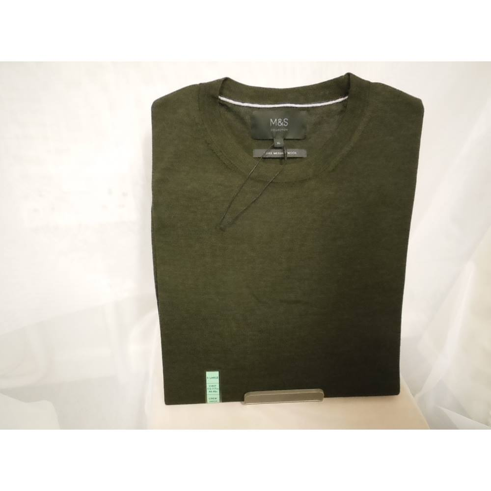 Ms Mens Merino Wool Sweater Size Xl Ms Marks Spencer Size