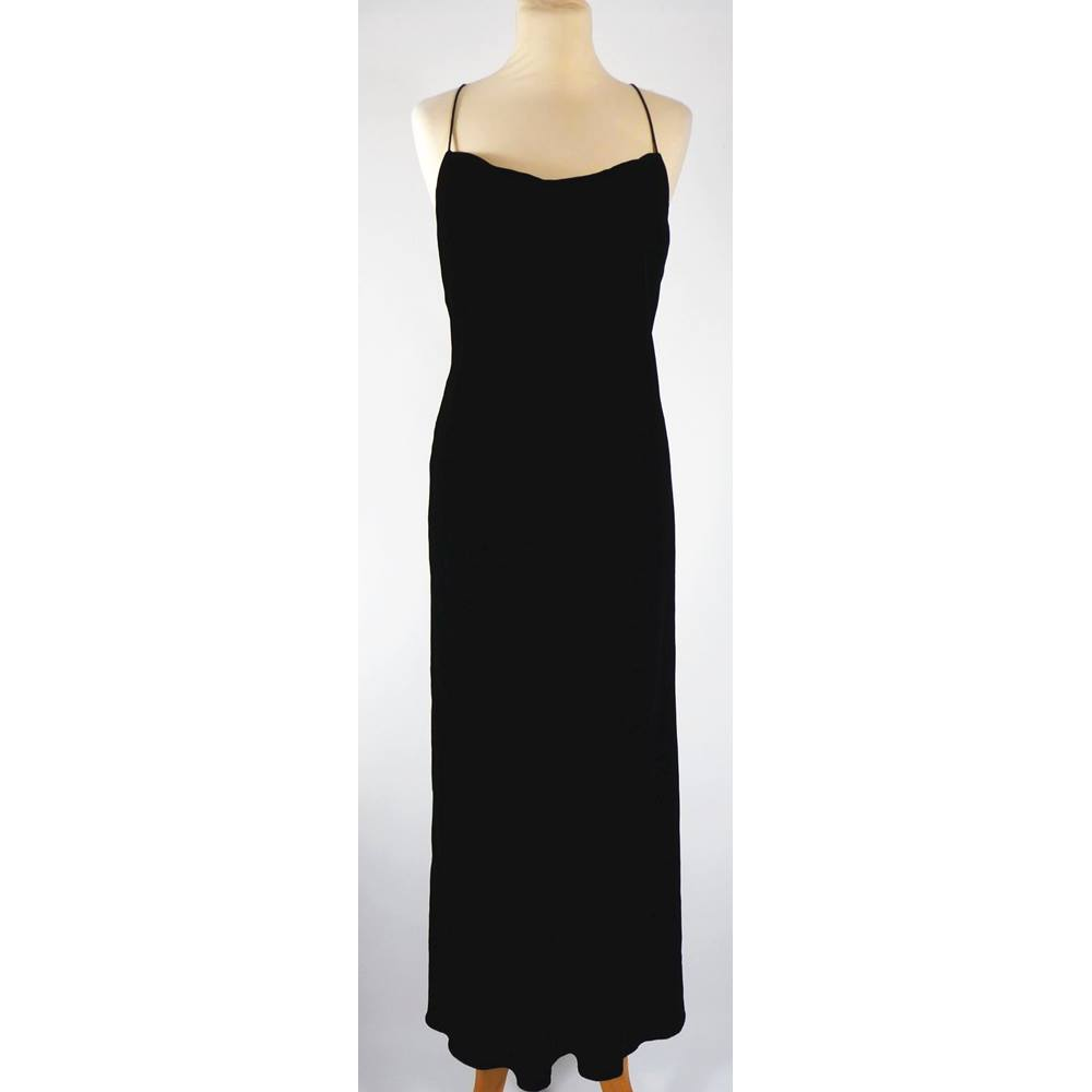 Principles, size 12 petite black velvet evening dress For Sale in ...