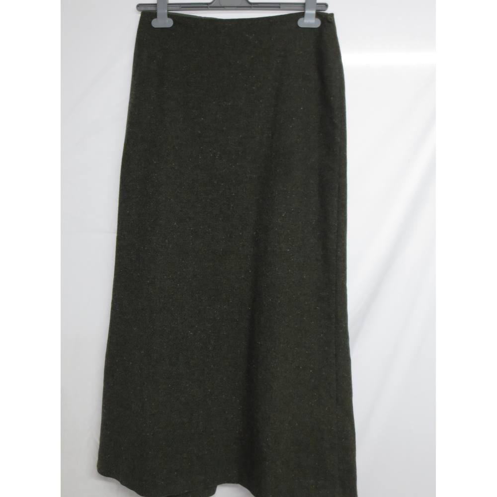 eb7412c4b0 M & S Wool Maxi Skirt Size 10 M&S Marks & Spencer - Green - Long. Loading  zoom