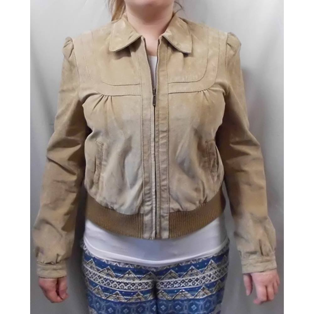 f9f718230a375 Womens WS leather jacket - Size  14 - Brown