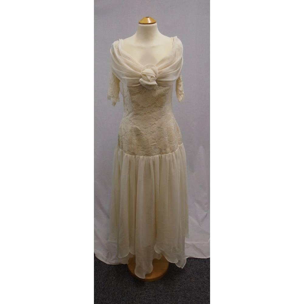 Ronald Joyce London - Size 12 - Cream Wedding Dress   Oxfam GB ...