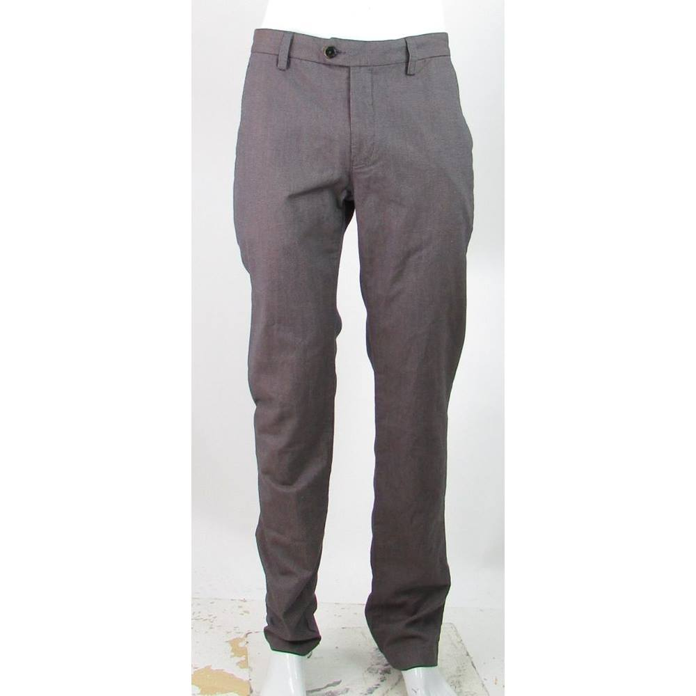 5b55a24b494f60 Ted Baker - Size  34 34 - Purple - 100% Cotton Trousers. Loading zoom