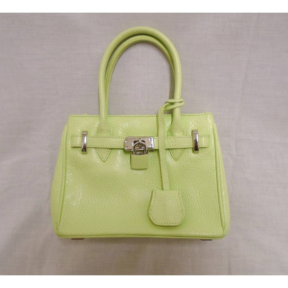 ... 2019 outlet 7a000 ac02c Jasper Conran BNWOT - Lime Green Small Leather  Handbag. 48a0f03d1