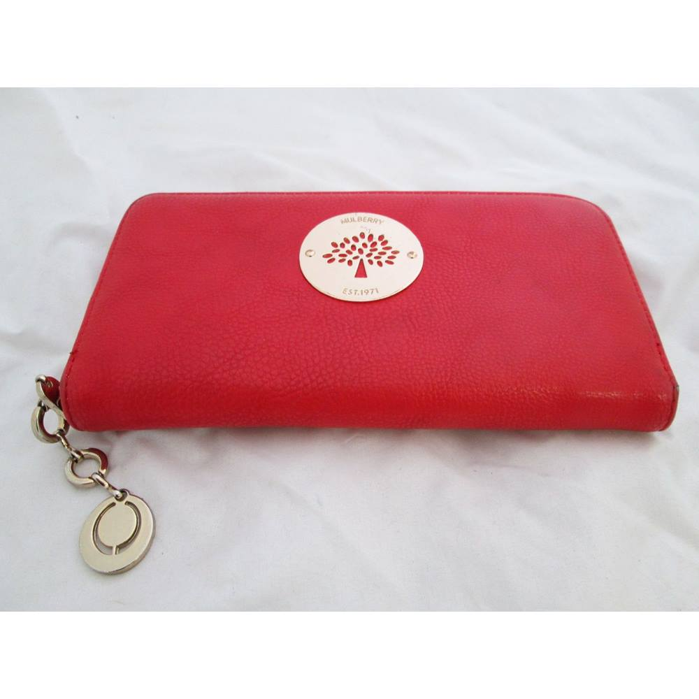 Red Mulberry Purse Loading Zoom