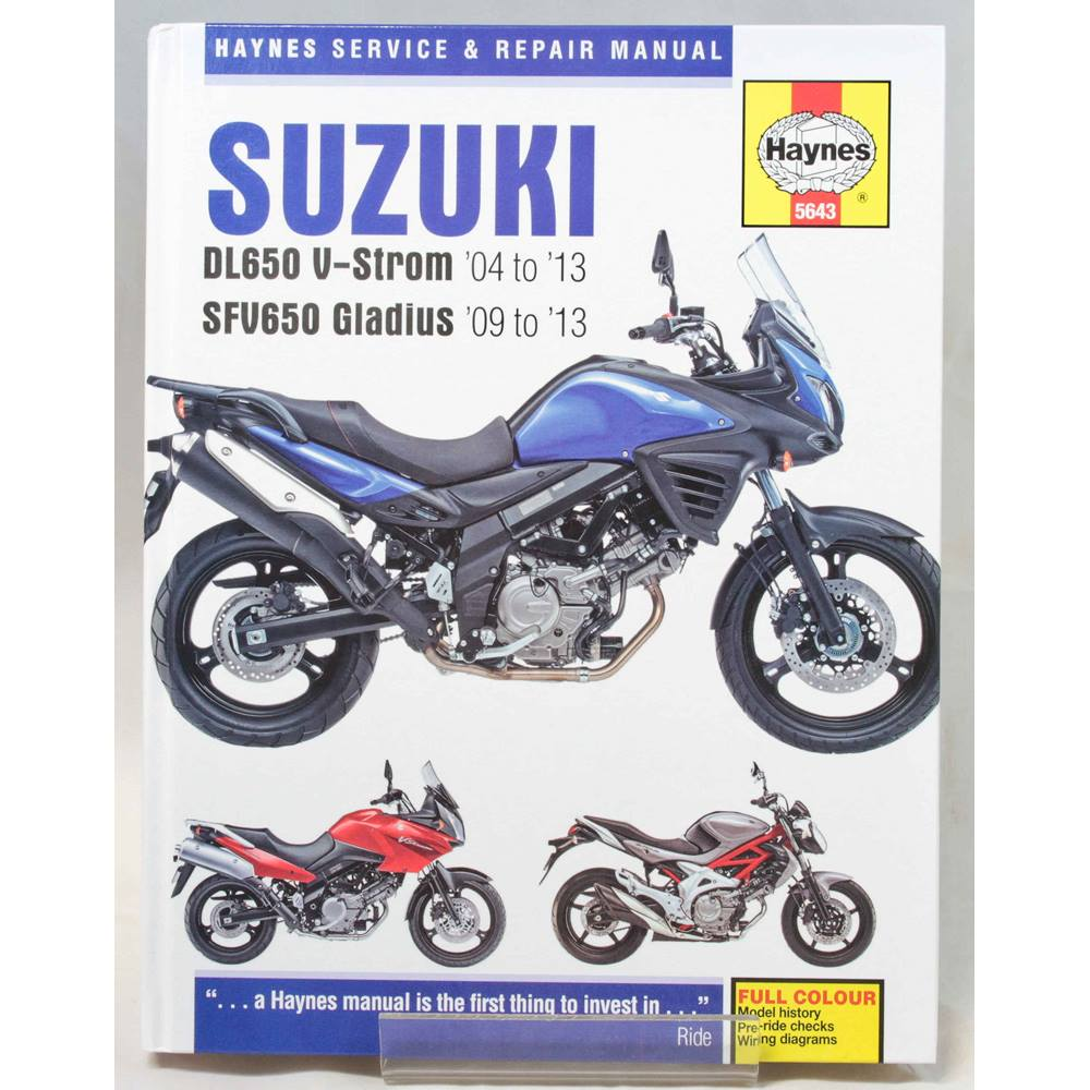 Faq Colored Wiring Diagram Gt All Sv650 Models Suzuki 1999 Tl1000r Oxfam Books Music Winchester Used Very Good Condition Hardback Haynes Service And Repair Manual 2014 This Combines Two Which Share The