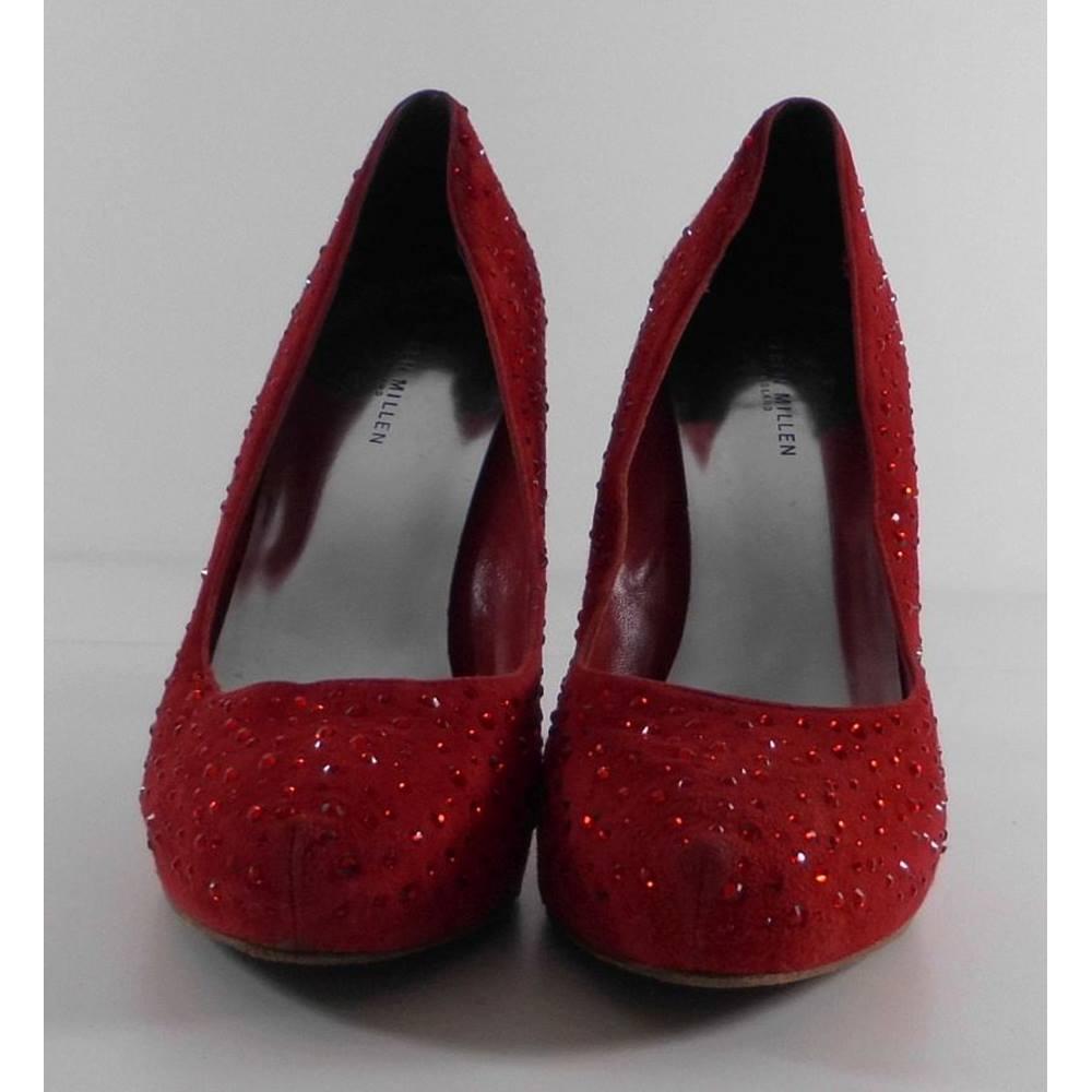 b57c52a79d8 Karen Millen Red Suede Court shoes Size 5 / 38 | Oxfam GB | Oxfam's ...
