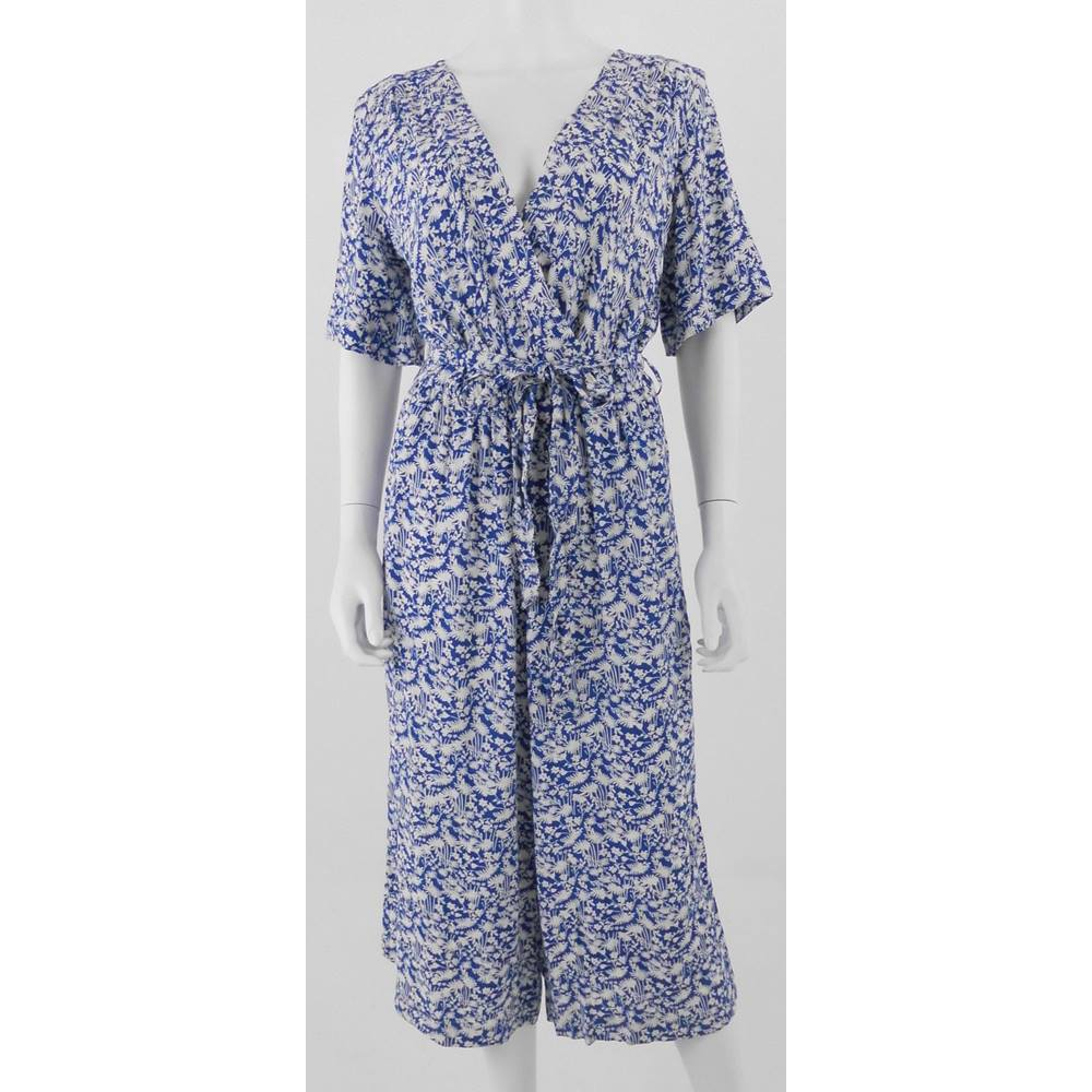 great deals 2017 a great variety of models soft and light M&S Marks & Spencer Size 12 Blue & White Floral Print Jumpsuit | Oxfam GB |  Oxfam's Online Shop