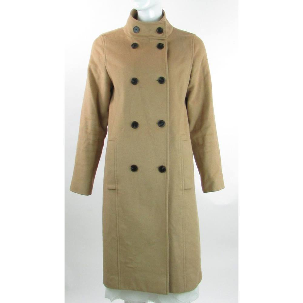 70f2e830e Jaeger - Size  10 - Camel - Wool   Cashmere Double Breasted Coat ...