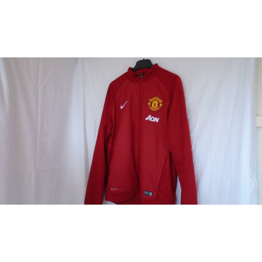 5385b49e3 NIKE MANCHESTER UNITED RED AON JACKET Nike - Size  L - Red - Jacket ...
