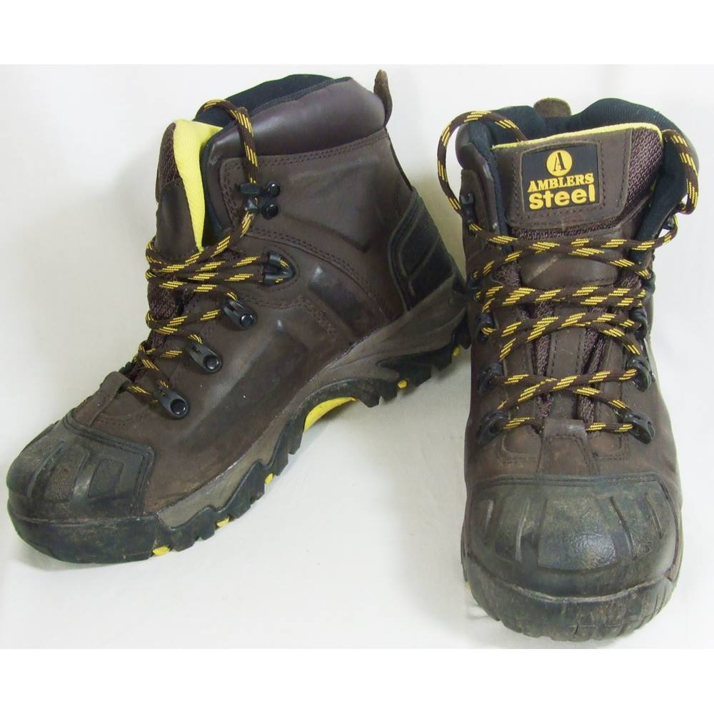 fe45392a048 Amblers Steel - Size 8 - Brown - Safety Boots | Oxfam GB | Oxfam's Online  Shop