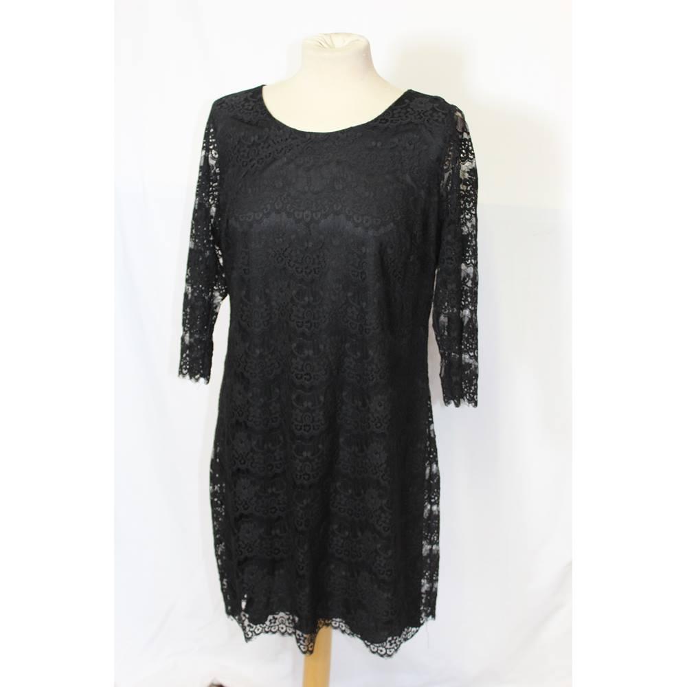 40c4ef5260577 George Size  20 - Black Lace - Knee Length Dress