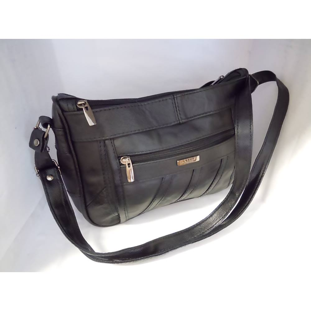 94a6bb6be3f9 Lorenz Accessories Black Leather Handbag Lorenz - Size  M - Black - Shoulder  bag