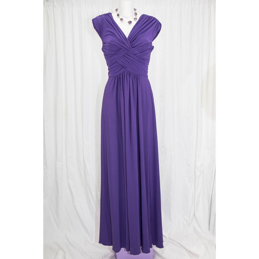 Phase Eight Monica Maxi Dress Phase Eight - Size: 10 - Purple ...