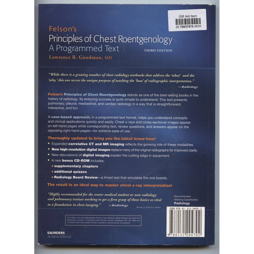 felsons principles of chest roentgenology e book goodman felsons principles of chest roentgenology