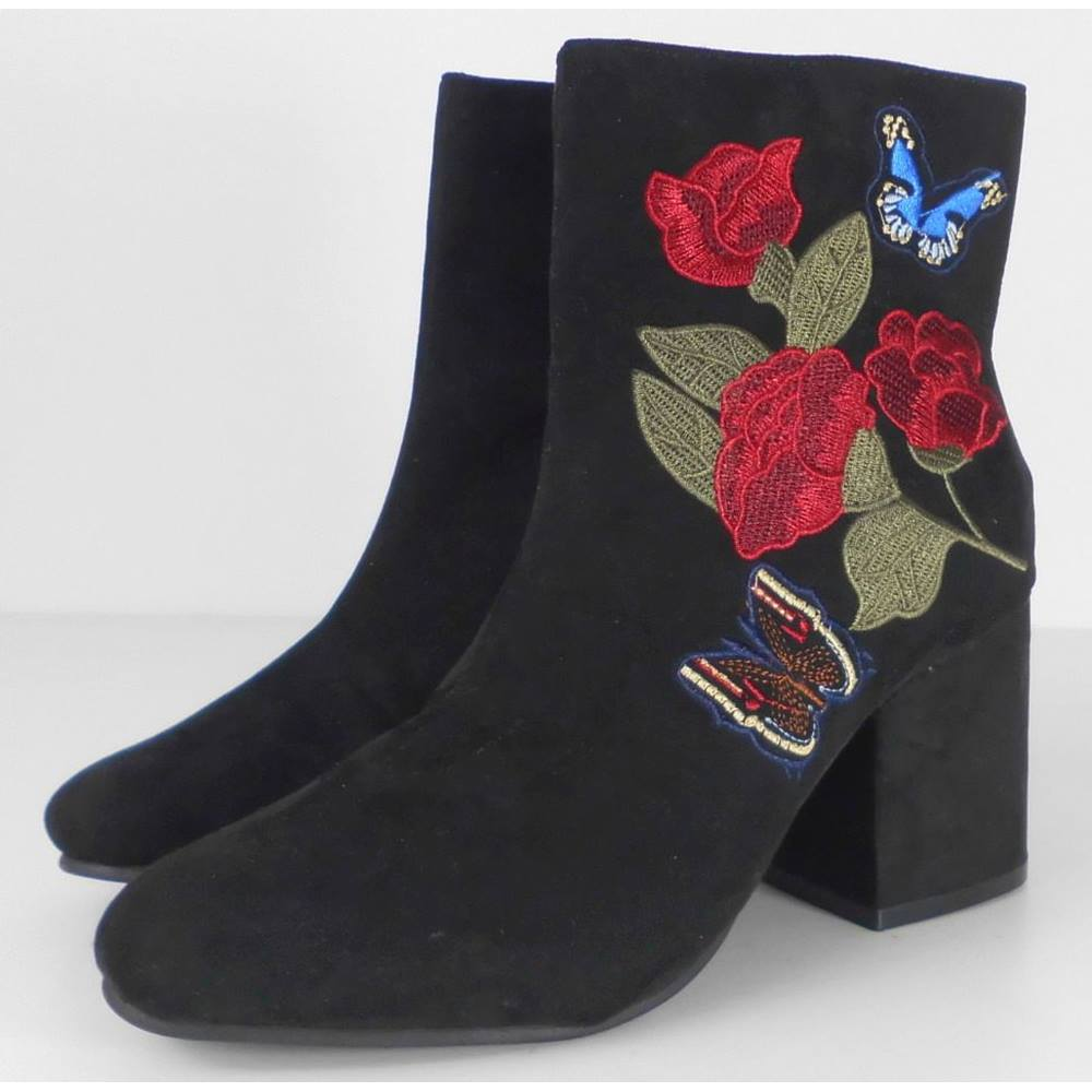 dbfe458d15f Primark 3 Faux Suede Rose Embellished Ankle Boots | Oxfam GB | Oxfam's  Online Shop