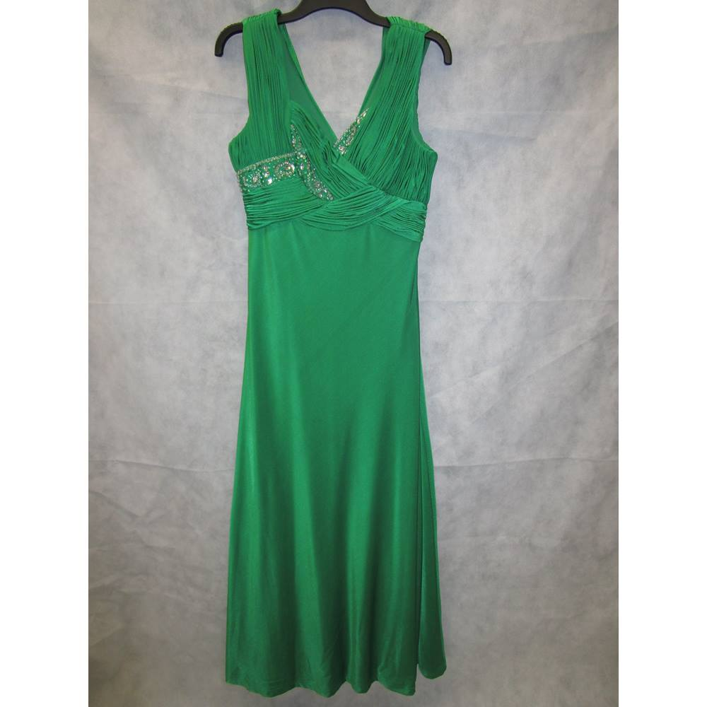 85a38a657f9 ladies Dynasty green size 14 long evening dress Dynasty - Size: 14 - Green  - Evening | Oxfam GB | Oxfam's Online Shop