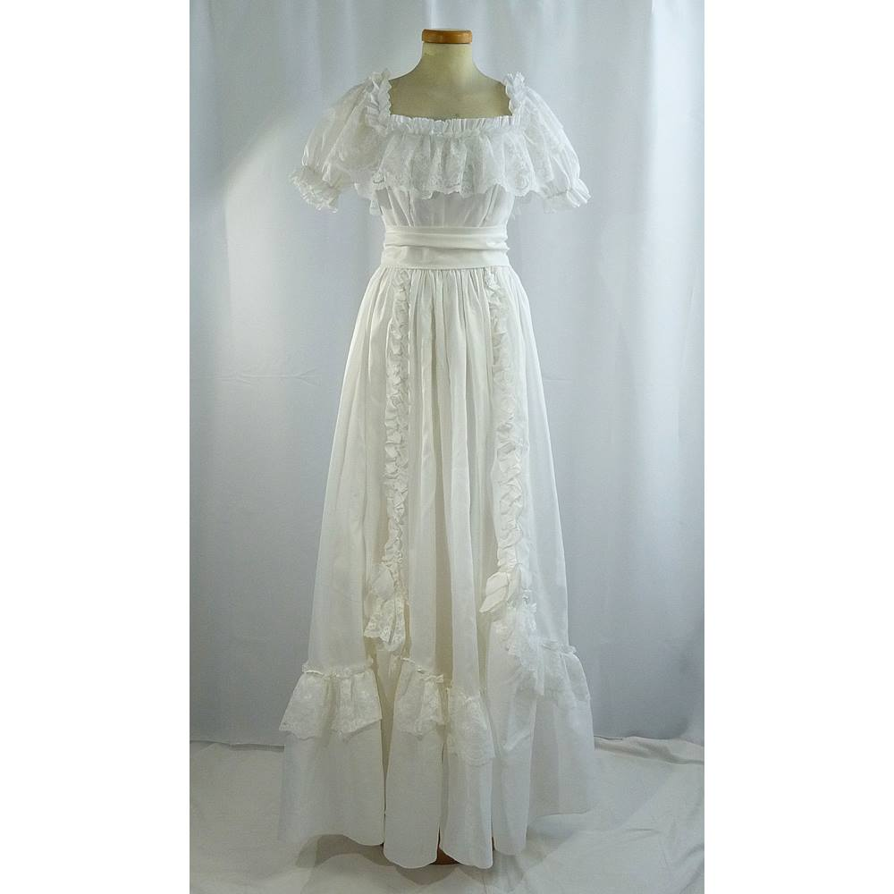 Vintage Full Length Wedding Dress Made In England By ABLC